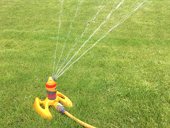 Summer lawn watering