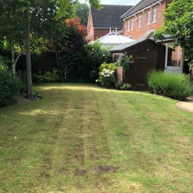 Example 2 of lawn care completed by Jonathan Eves