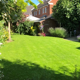 Example 3 of lawn care completed by Jonathan Eves